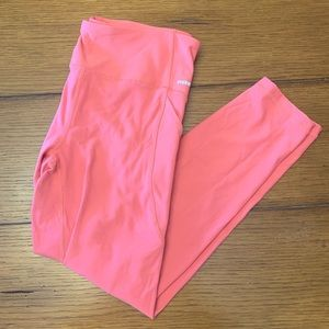 Bright pink work-out pants